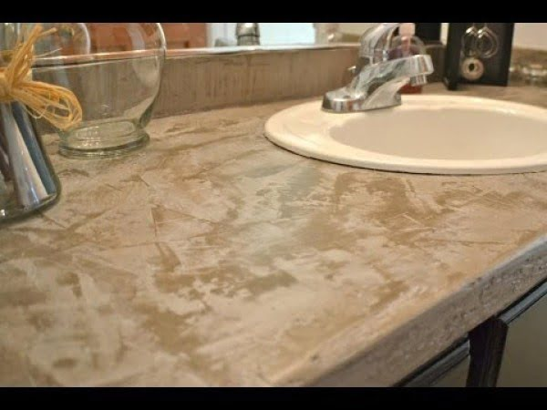 Easy, Cheap, DIY Concrete Countertops #DIY #kitchendesign #homedecor