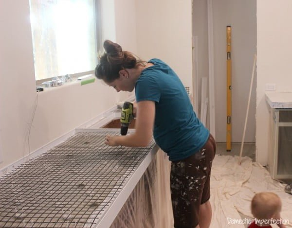 DIY Concrete Countertops, Part I- Setting the Forms #DIY #kitchendesign #homedecor