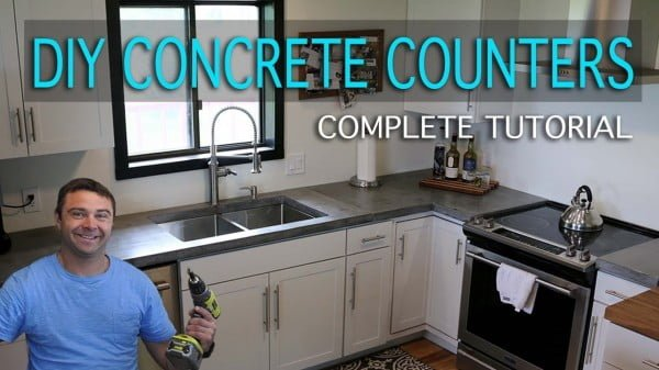 How to Make Concrete Countertops #DIY #kitchendesign #homedecor