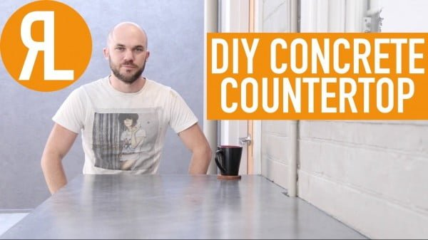 How To Make A Concrete Countertop, It's Easier Than You Think #DIY #kitchendesign #homedecor