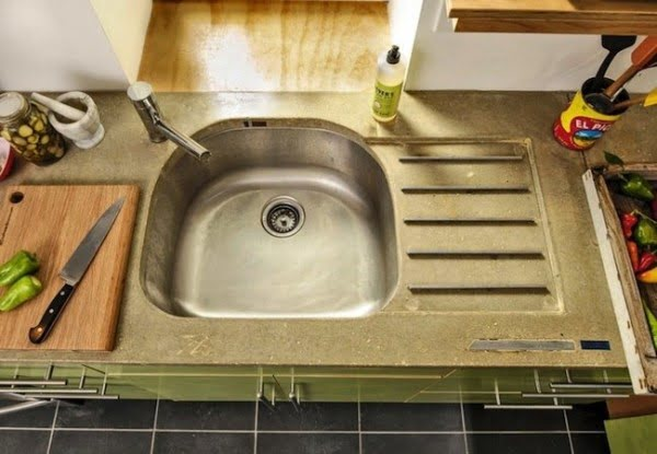 How to Make DIY Concrete Countertops #DIY #kitchendesign #homedecor