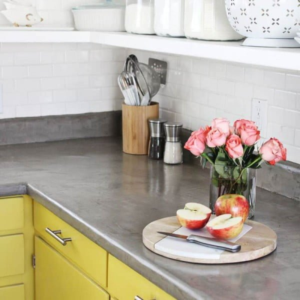 Concrete Countertop DIY #DIY #kitchendesign #homedecor