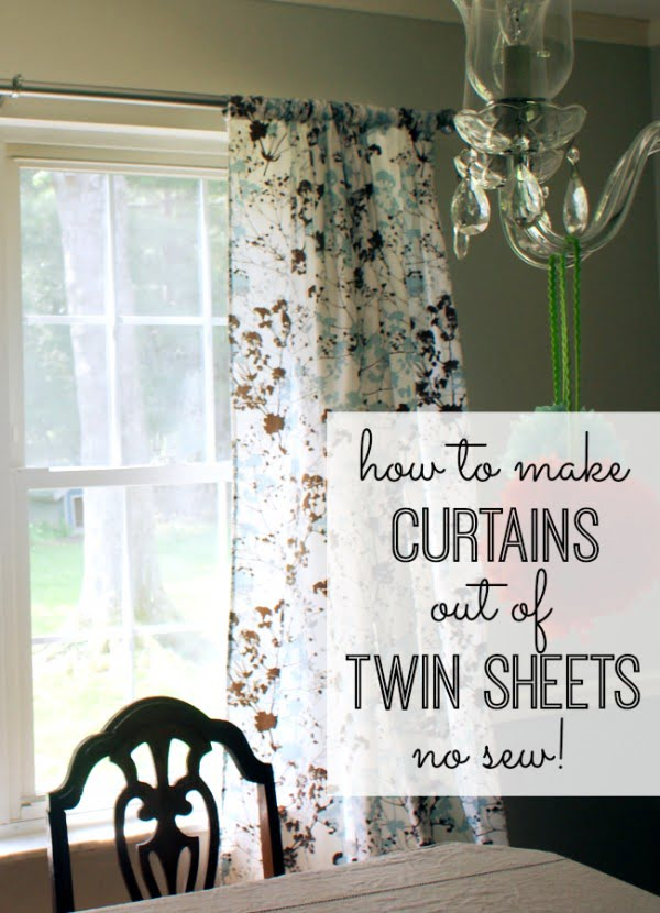 How to Make Curtains Out of Twin Sheets #DIY #homedecor