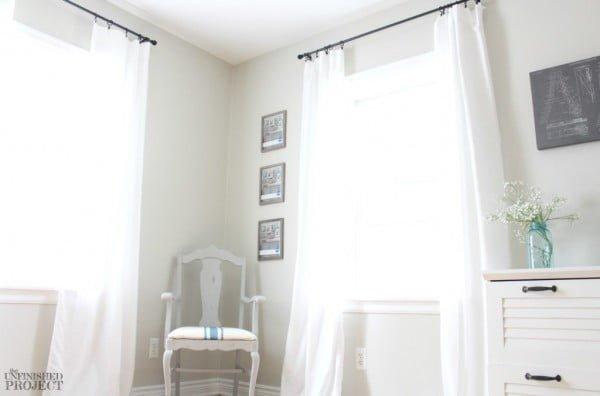DIY Curtains... From A $5 Sheet! | Jolie Petite Vie