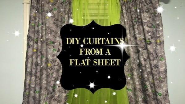 DIY l CURTAINS USING A FLAT SHEET