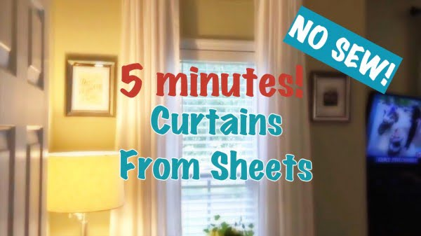 DIY Curtains Out of Sheets #DIY #homedecor
