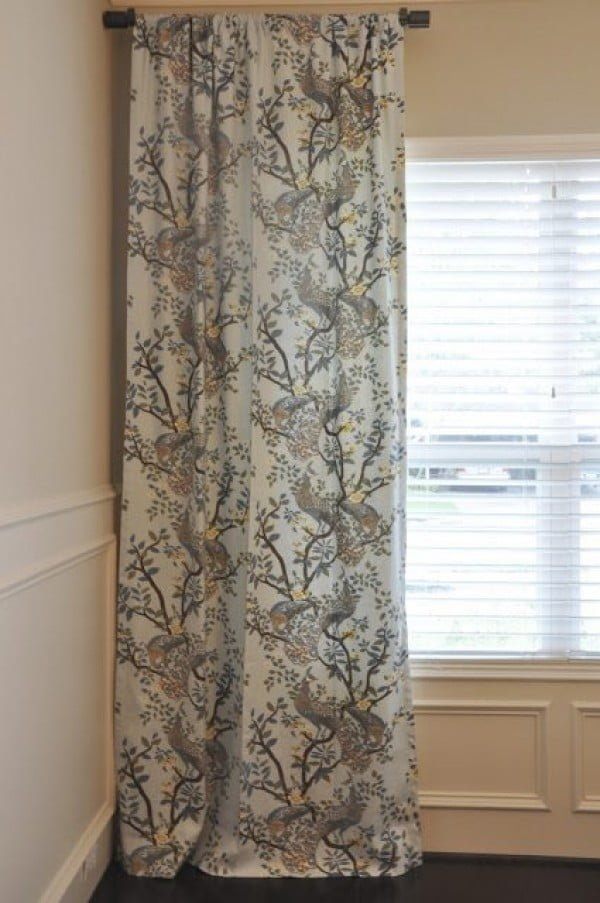 DIY {$20 No Sew Curtain Liners}   Honey We're Home #DIY #homedecor