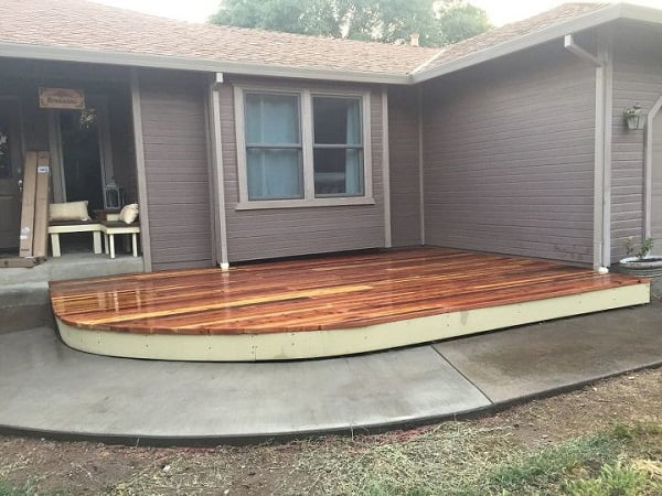 DIY curved deck plans