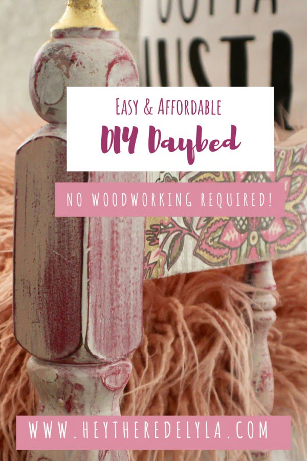 How to DIY an easy & affordable daybed without any woodworking skills.