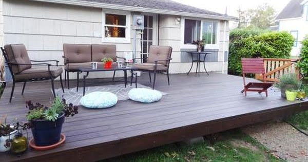 How To Build A Beautiful Platform Deck In A Weekend #DIY #deck #woodworking