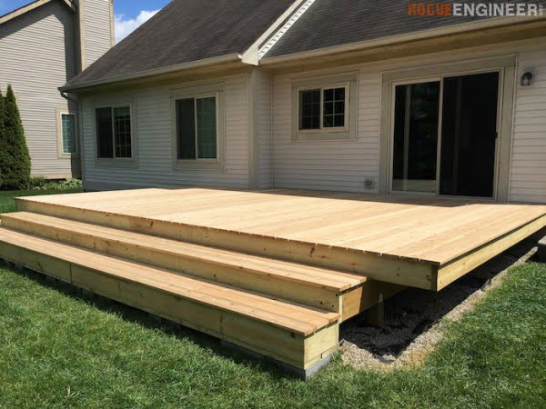 How to Build a Floating Deck » Rogue Engineer #DIY #deck #woodworking