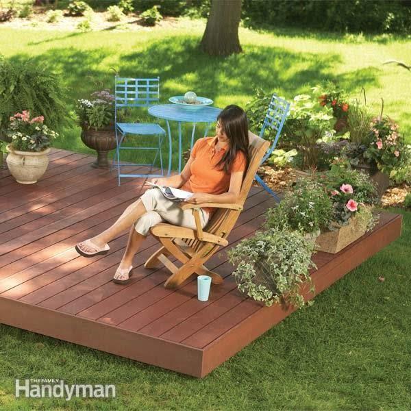 Backyard Decks: Build an Island Deck #DIY #deck #woodworking