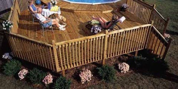 How to Build a Pool Deck #DIY #deck #woodworking