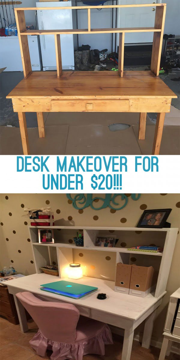 DIY Desk Makeover For Under $20 - Felly Bee #DIY #homdecor