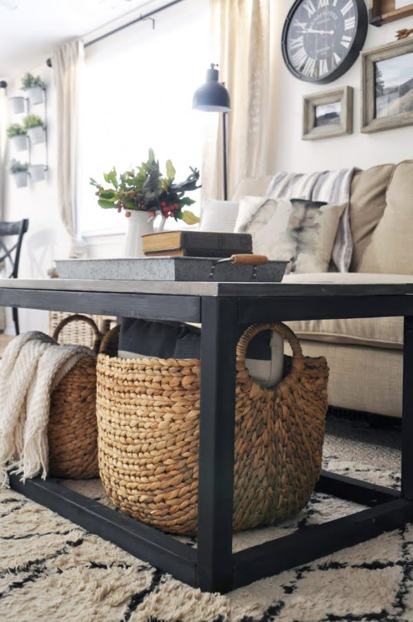 Industrial Farmhouse Coffee Table Free Plans