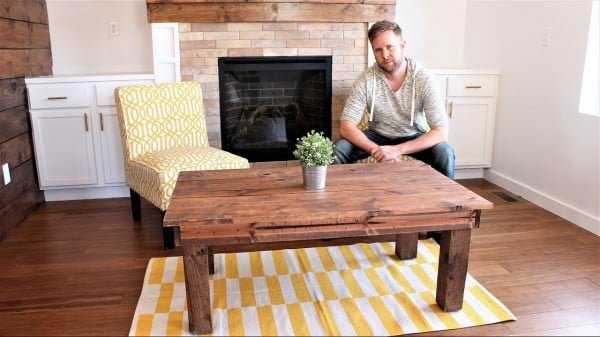 The $30 Farmhouse Coffee Table