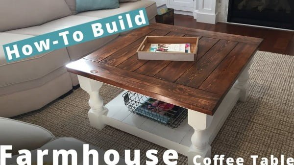 How to Build a Square Farmhouse Coffee Table DIY Project