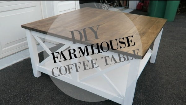 DIY FARMHOUSE COFFEE TABLE!