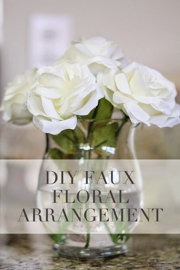 DIY Tutorial : Silk Floral Arrangement #DIY #fauxflowers #homedecor