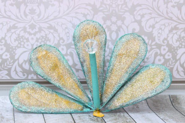 How to Turn a Whisk into DIY Peacock Garden Art   art