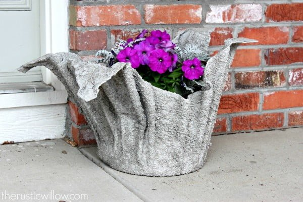 DIY Concrete Planter   art