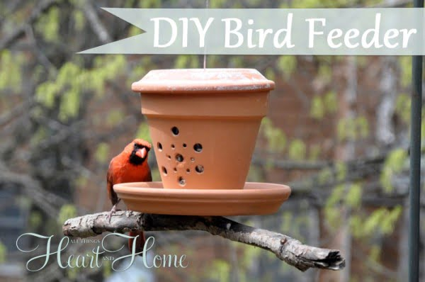 DIY Bird Feeder From A Flower Pot!   art