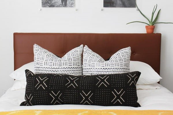 West Elm Inspired DIY Leather Tufted Headboard | And Then We Tried