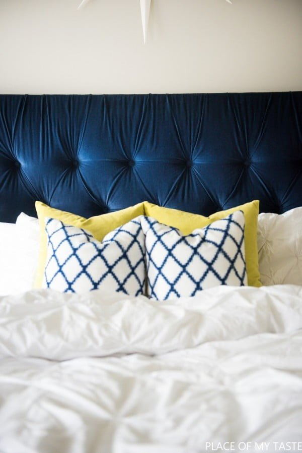 diamond tufting DIY Headboard