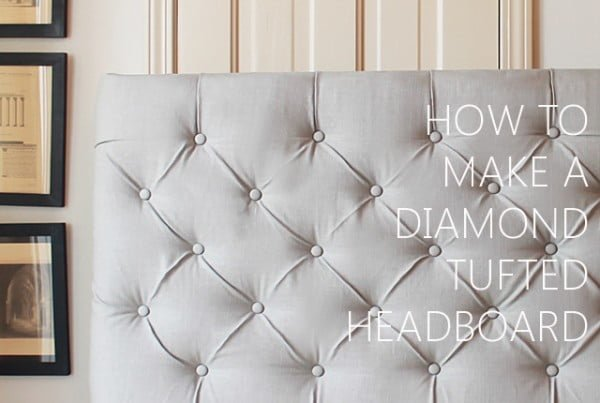 How To Make A Diamond Tufted Headboard #diy #homedecor #bedroomdecor