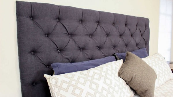 Upgrade Your Bedroom With A Tufted Headboard #diy #homedecor #bedroomdecor