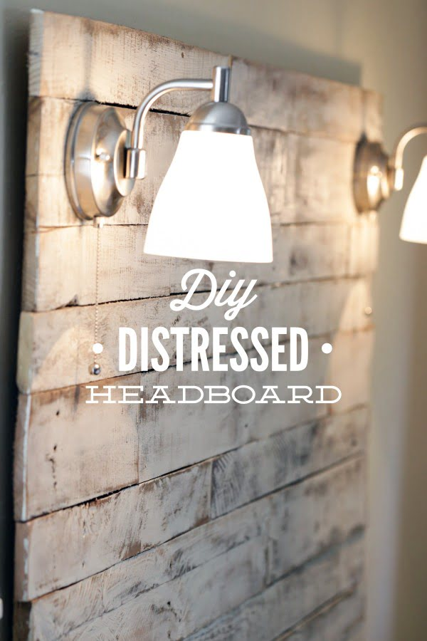 How to Make a DIY Distressed Headboard - Live Simply #DIY #homedecor #bedroomdecor