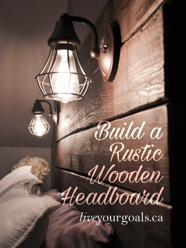 Build a Rustic Wooden Headboard #DIY #homedecor #bedroomdecor