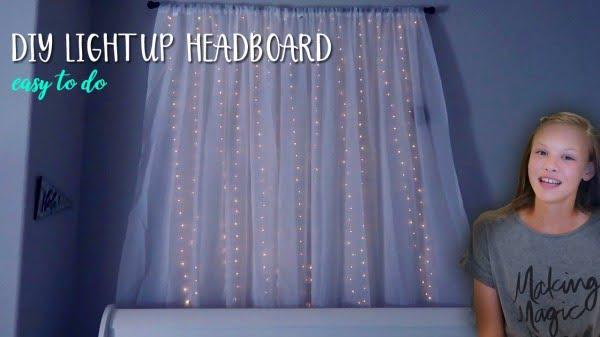DIY Light Up Headboard #DIY #homedecor #bedroomdecor