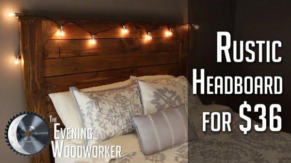 Rustic Headboard for $36 #DIY #homedecor #bedroomdecor