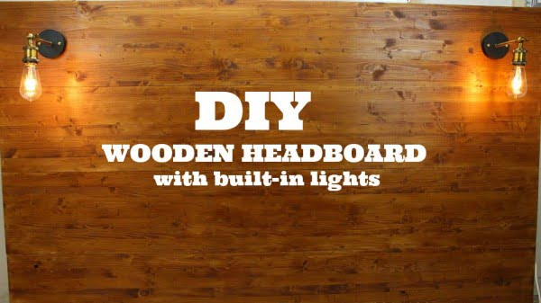 Create A Wooden Headboard With Built-in Lights