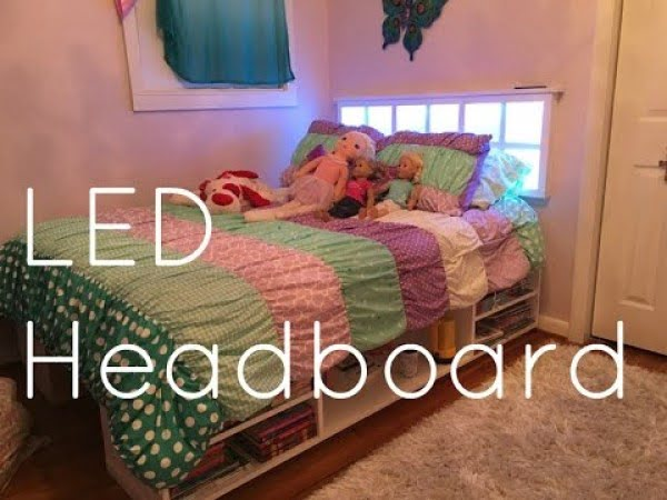 How to build an LED Headboard - Daughter's Room Upgrade Part 3