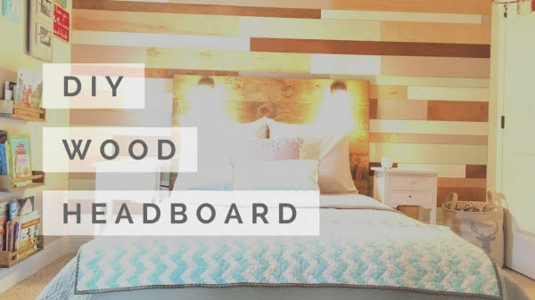How to Build a Wood Headboard with Reading Lamps