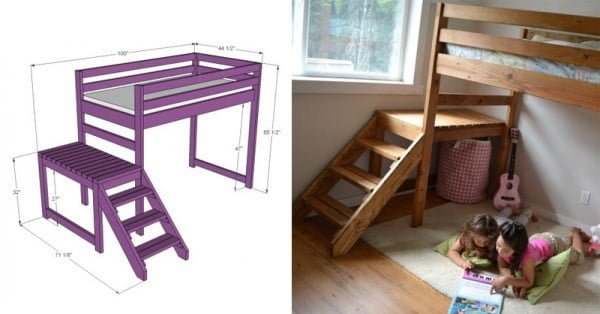 DIY Camp Loft Bed
