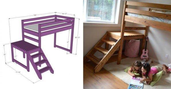 DIY Camp Loft Bed #DIY #furniture #bedroom #homedecor