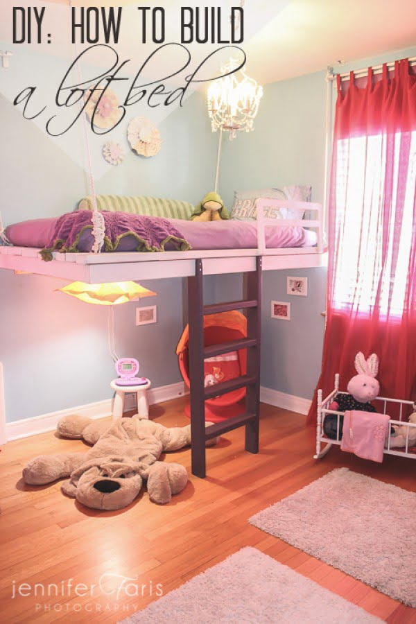 How to build a loft bed and win your daughters heart #DIY #furniture #bedroom #homedecor