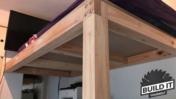 Loft Bed construction DIY #DIY #homedecor #furniture #bedroom