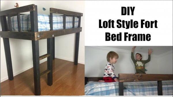 LOFT FORT BED FRAME #DIY #homedecor #furniture #bedroom