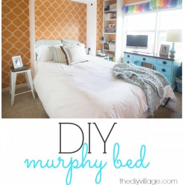 DIY Murphy Bed; Making Room For Guests #DIY #furniture #bedroomdecor #homedecor
