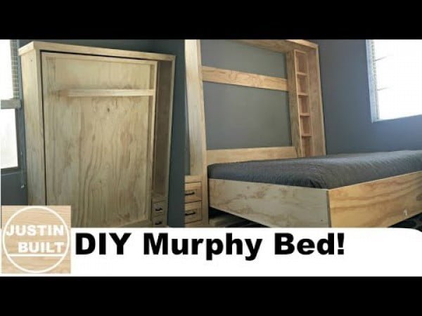 DIY Murphy Bed without expensive hardware! #DIY #furniture #bedroomdecor #homedecor