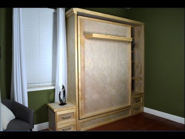 Wall bed Hack Without the Hardware Kit #DIY #furniture #bedroomdecor #homedecor