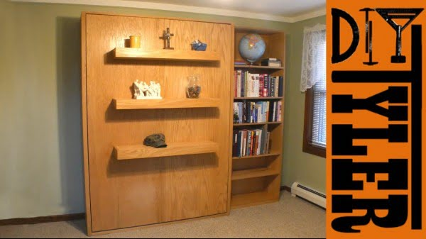 Murphy Bed with Cheap $20 Hardware #DIY #furniture #bedroomdecor #homedecor