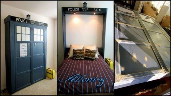 DIY Tardis Murphy Bed #DIY #furniture #bedroomdecor #homedecor