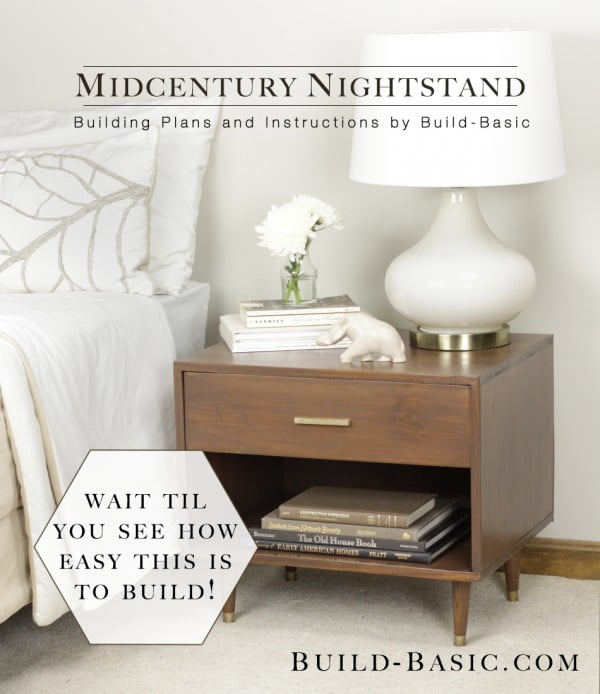 DIY Mid-century Nightstand Plans