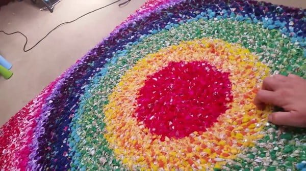 No Sew DIY Rag Rug Tutorial