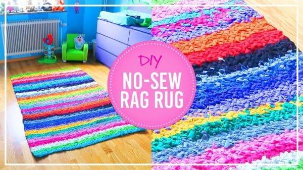 DIY No Sew Rag Rug